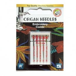 ORGAN иглы вышивальные 5/ EMBROIDER COMBI Box Blister