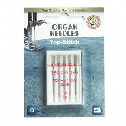 ORGAN иглы TOP STITCH 5/80 Blister.  Артикул 503455